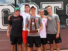 Boys and Girls Tennis Win District Championship Titles