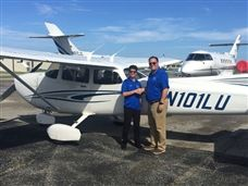 SA Aviation Studies Scot Andy Traficante Takes his First Solo Flight