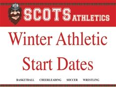 Winter Athletic Start Dates