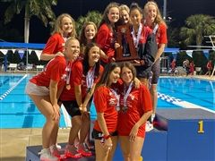Girls Swimming and Diving Places 2nd at FHSAA State Meet; Boys Finish 4th