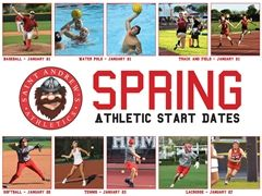 Spring Upper School Athletic Start Dates