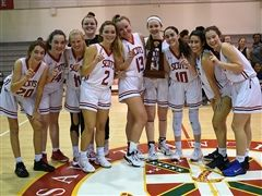 Varsity Girls Basketball Wins District Championship