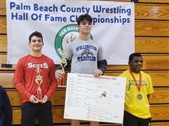 Sikora and Martin Place at Palm Beach County Wrestling Championships