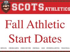 Fall Athletic Start Dates - Tentative