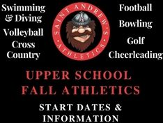 Upper School Fall Athletics Start Dates and Information