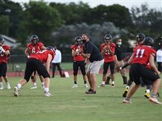 Football Competes Against St. John Paul II Academy in Season Opener