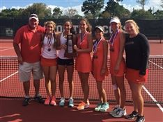 Both Boys and Girls Tennis Claim District Title
