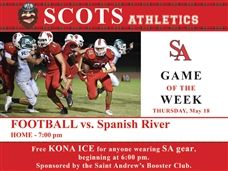 Spring Football vs. Spanish River High Thursday, May 18 @ 7:00PM