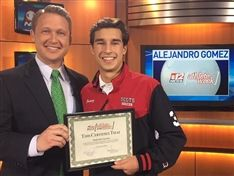 Alejandro Gomez '19 Selected as CBS 12 Athlete of the Week