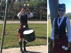 Student Drummer Shines at Scottish Festival and Highland Games