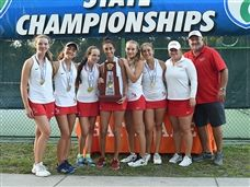 Girls Tennis Wins State Championship Title for Third Consecutive Year