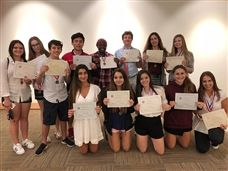 French Language Students Earn Medals, Top National Honors