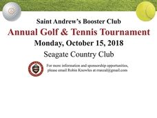 Booster Club to Host Golf and Tennis Classic on October 15