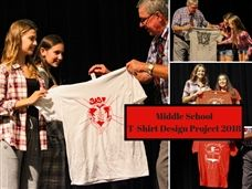Middle School Artists Recognized for T-Shirt Designs
