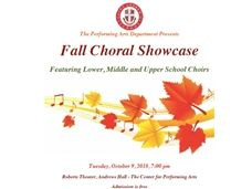 Join Us for the Fall Choral Showcase - October 9