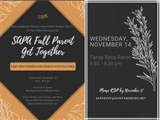 Join Us for the SAPA Fall Parent Get Together - November 14