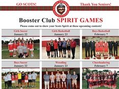 Winter Athletic Senior Night/Spirit Games