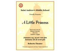 Roll Out the Red Carpet for the MS Musical: A Little Princess - Jan. 24-26
