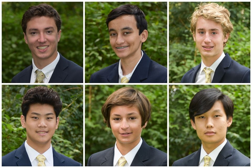 TOP Will Berkley, Ajay Bagaria, and William Ewald BOTTOM Andrew Tu, Robert Ulmer, and Seth Yoo