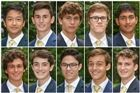 TOP Justin Cheng, Jakob Ginder, Ryan Glanville, Marcus Hodgson, and Nikhil Jaiswal BOTTOM Ford Jung, Harrison Kilberg, Alexander Morgan, Michael Pastore, and Samuel Schwartz