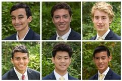 TOP Ajay Bagaria '24, Will Berkley '21, and William Ewald '23 BOTTOM Ali Hindy '21, Andrew Tu '24, and Hunter Wu '23
