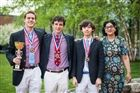 Cole Pierce, Matthew Pillari, Tallon Hodge, and Mrs. Gupta