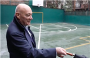 Vladimir Pozner '47 in the Ball Yard