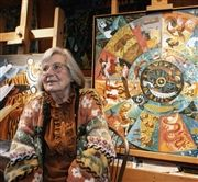 Dahlov in her studio in 2005