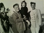 Ryna with her grandfather and mother at an ILGWU convention circa 1948