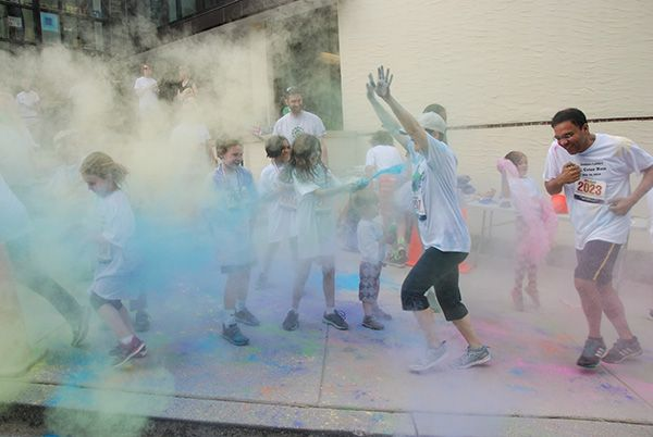 Middle School color run for the Annual Fund.