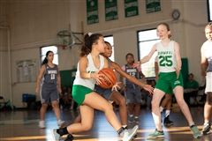 Middle School Girls Basketball team plays against Burke in the January Jam Tournament.