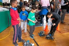 Students sample projects across STEM disciplines during STEMFest at Lowell.