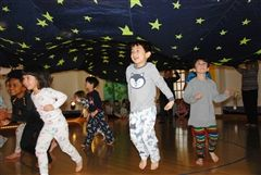 Pre-Primary students celebrate PJ Day. PJ Day culminates the students' nighttime unit.