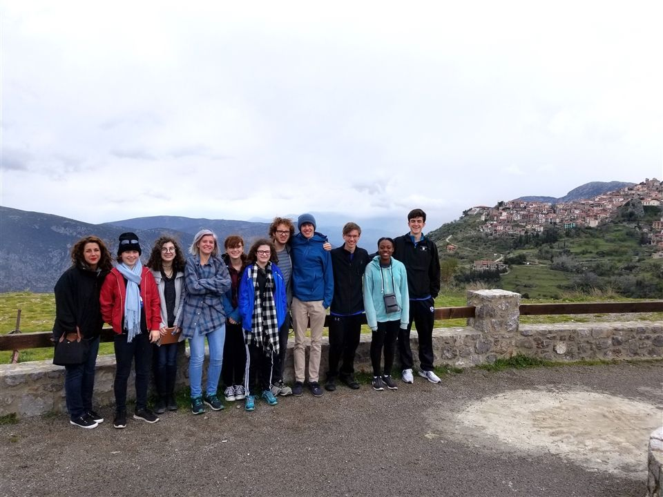 Thirteen students participated in the 2019 spring break trip to Italy and Greece.