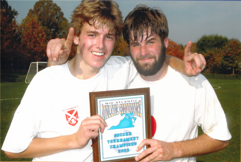 2003 soccer co-captains Warren Rizzi and Mike Brown - St. Andrew's Episcopal School
