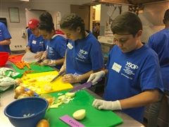Students participating in community service for the homeless - St. Andrew's Episcopal School
