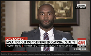 Myron Rolle '06 Discusses the NCAA with CNN's Michael Smerconish