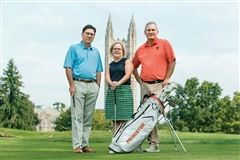 Princeton Pride: Members of Springdale Golf Club, like board president Kevin Tylus, board member Erin Hamrick, and Princeton University men's golf coach Will Green, see themselves as stewards of the historic club's legacy. Photo credit: U.S.1