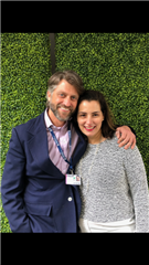Chris Heltai '86 and Gina Fiore '86 at Frieze Los Angeles