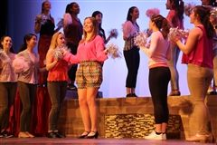 Lydia Buckley '17 stars as Elle Woods in the Janus Players production of