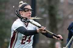 Kate Weeks '13 broke the Boston College single game lacrosse scoring record with her 8 goals against the University of Massachusetts.