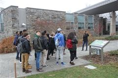 Hun students take an insiders' tour of Swarthmore College