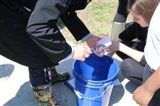 Students record trout release during joint Field Study