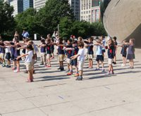 'Flash mob' ends first grade's unit on Public Art