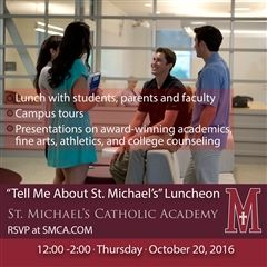 'Tell Me About St. Michael's' Luncheon RSVP
