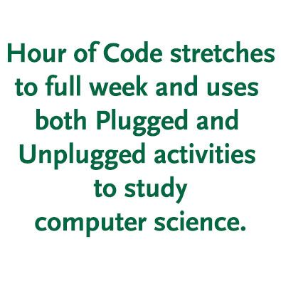 Hour of Code Stretches to a Full Week at Burke's