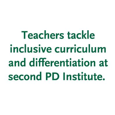 Second Professional Development Institute Dives Deep