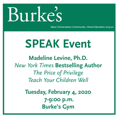 SPEAK Event: Madeline Levine