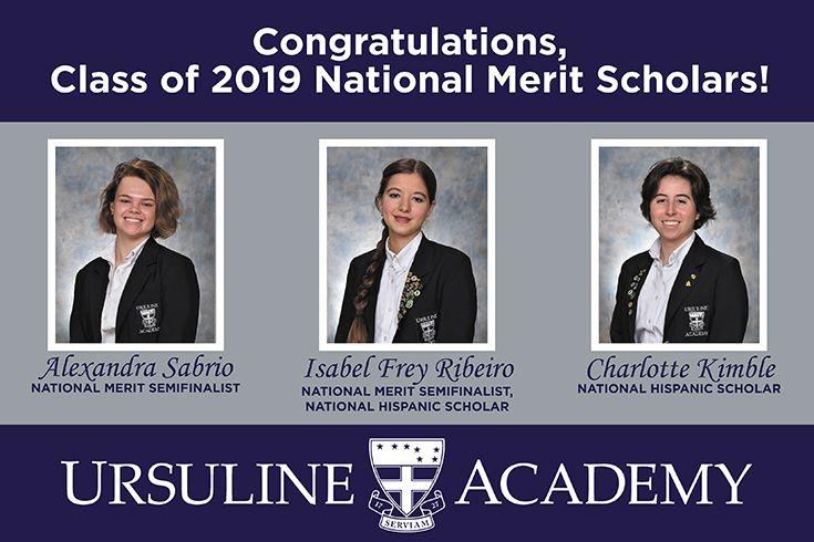 Class of 2019 National Merit Scholars | Ursuline Academy