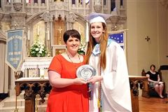 Emily MacLaren '14 was selected as the 2014 Cor Unum Award Recipient by the Ursuline Alumnae Association. The award is given to one senior each year. Candidates are judged solely on their love for Ursuline Academy and their honest expression of what the Academy means to them.